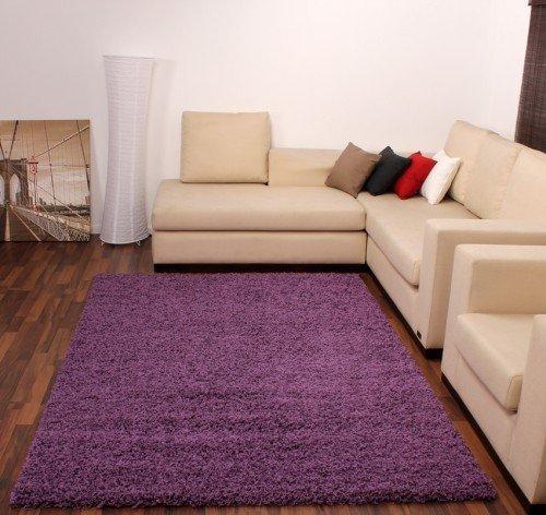 DIVA Shaggy Lila Violet Hochflor Langflor Teppich Uni Violett TOP Preis NEU*, Grösse:60x100 cm