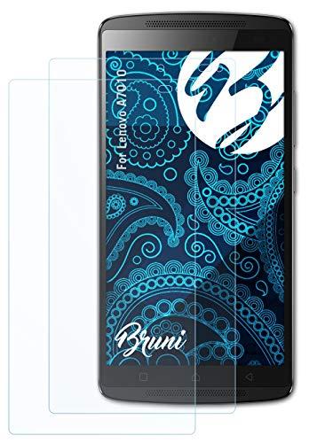 Bruni Schutzfolie kompatibel mit Lenovo A7010 Folie, glasklare Bildschirmschutzfolie (2X)