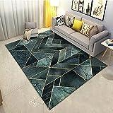 Kunsen Modelo geométrico Simple Moderno Alfombra Duradera Resistente a la Suciedad Lavable fácil de Limpiar Antideslizante recibidores Modernos alfombras Online Baratas habitacion 50X80CM
