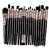 Pinceaux Maquillages à Yeux, 20Pcs Pinceau Ombre à Paupières Professionnelle Cosmétique Pinceaux KitSynthétiques pour Les Yeux