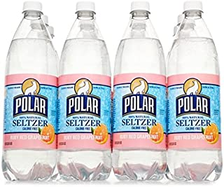 Polar Seltzer 33.8 Fl. Oz, (Pack of 12) (Ruby Red Grapefruit)