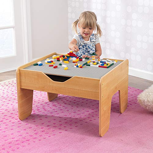 """KidKraft 2-in-1 Activity Table with Board, Gray/Natural, 28.5"""" x 23.5"""" x 3.25"""""""