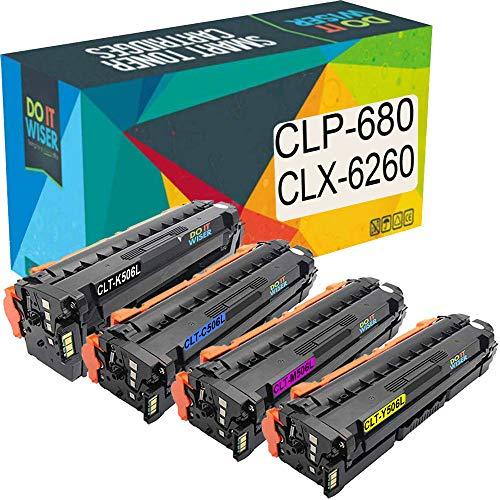Do it Wiser Kompatible Toner als Ersatz für Samsung CLP 680 CLX 6260FW CLX 6260 CLP 680DW CLP 680ND CLX 6260ND CLX 6260FD CLX 6260FR CLT C506L CLT M506L CLT Y506L (4er-Pack)