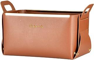 Boîte de Rangement Cosmétique,Sac de Maquillage de Panier de Rangement en Cuir épaissi Pliable Imperméable Pour Ranger des...