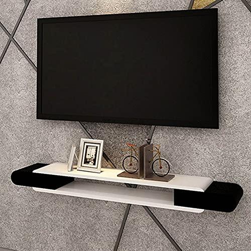 Estante flotante, soporte de TV montado en la pared, estante de almacenamiento de gabinete de TV brillante colgante, utilizado en sala de estar, sala de recreación, oficina/A / 130cm