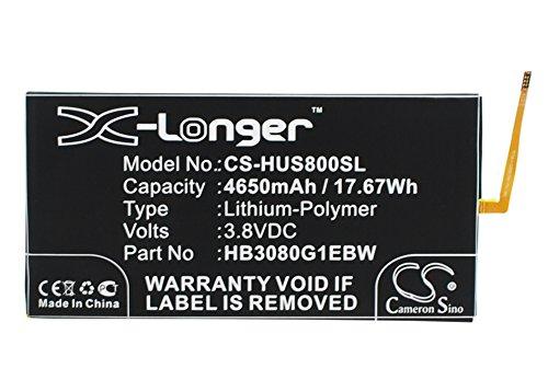 CS-HUS800SL Batería 4650mAh Compatible con [Huawei] EE Eagle, EE Eagle 4G LTE, Honor S8-701u, Honor S8-701W, Mediapad M1 8.0, MediaPad T1 9.6, S8-301L, S8-301U, S8-301w, S8-303L, S8-306L, S8-701u, S8