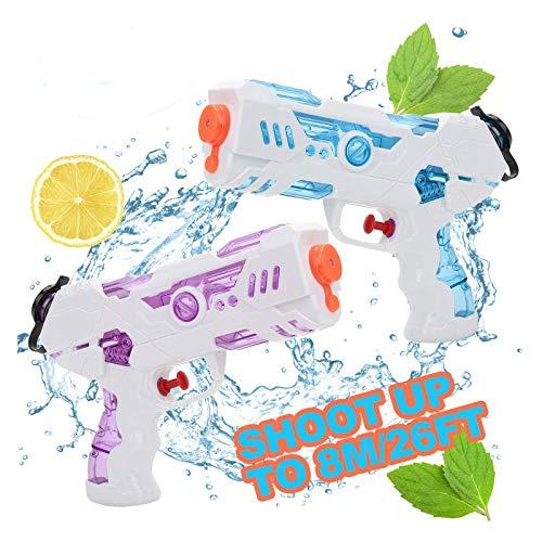 KATELUO Pistole ad Acqua, 2 PCS 250ML Pistole ad Acqua Giocattolo Blaster per Piscina Estiva All'aperto Divertimento Acqua sulla Spiaggia per Bambini Adulti
