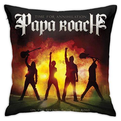 Klotr - Funda de almohada de 45,7 x 45,7 cm, diseño de Papa Roach Time for Aniquilation