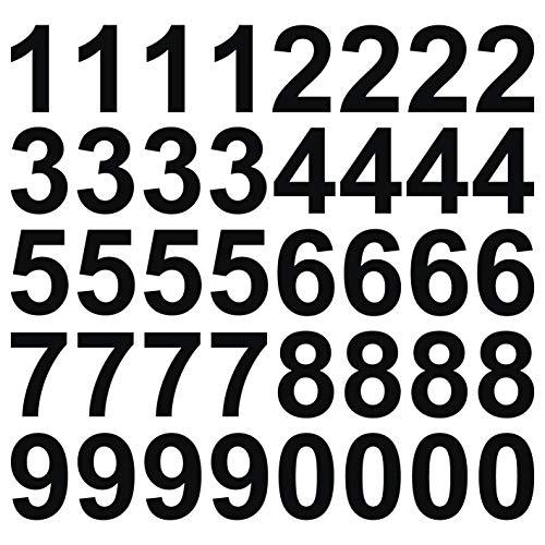 kleb-Drauf | 40 Zahlen, Höhe je 10 cm | Schwarz - matt | Wandtattoo Wandaufkleber Wandsticker Aufkleber Sticker | Wohnzimmer Schlafzimmer Kinderzimmer Küche Bad | Deko Wände Glas Fenster Tür Fliese