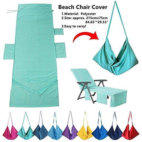 Serviettes de sport,Housse pour chaise longue de jardin, plage Coussin pour chaise longue, Housse,Bains de soleil,215cm(84.65\