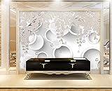 Peint À La Main Hd En Relief Glycine Fleur 3D Fond Chambre Chambre papier peint...