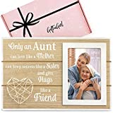 GIFTAGIRL Popular Aunt Gifts from Niece or Nephew - Classy Aunt Frame Gifts for Aunts from Niece or Nephew for Any Occassion - Aunt Picture Frame Gifts for Aunt, and a Beautiful Quote that She'll Love