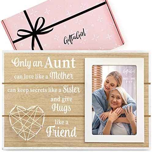 GIFTAGIRL Popular Aunt Gifts from Niece or Nephew - Classy Aunt Frame Gifts for Aunts from Niece or Nephew for Any Occassion - Aunt Picture Frame Gifts for Aunt, and a Beautiful Quote that She