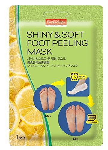 Foot Peeling Mask Set By Purederm - Exfoliating Foot Peel Spa Mask For Baby Soft Skin W/Sunflower Seed Oil & Lemon Extract - For Men & Women - Removes Dead Skin & Calluses In 2 Weeks, Pack of 3