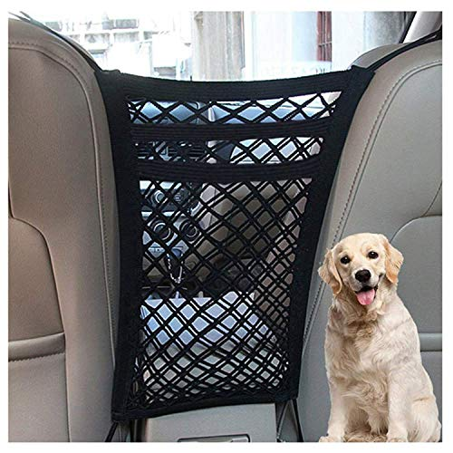 DYKESON Pet Barrier Dog Car Net Barrier with Auto Safety Mesh Organizer Baby Stretchable Storage Bag...
