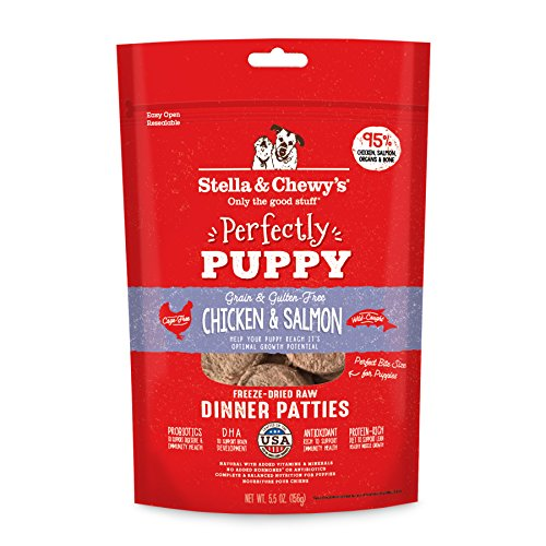 Stella and Chewy's Freeze-Dried Raw Chicken Salmon Patties for Puppies 5.5 Ounce