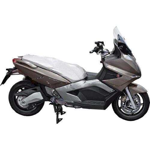 Polo Motorradabdeckung Motorradplane Motorradgarage Sitzbankschutzabdeckung Größe XL, Unisex, Roller/Scooter, Ganzjährig, Polyamid, Silber
