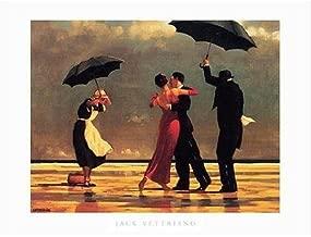 Buyartforless The Singing Butler by Jack Vettriano 32x24 Art Print Romantic Dancing with Umbrellas