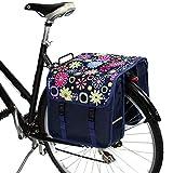BikyBag Clásica - Doble Alforjas para Bicicletas (Margarita Rosa Flores)