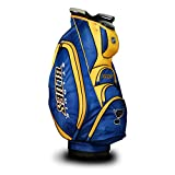 Team Golf NHL St Louis Blues Victory Golf Cart Bag, 10-way Top with Integrated Dual Handle & External Putter Well, Cooler Pocket, Padded Strap, Umbrella Holder & Removable Rain Hood