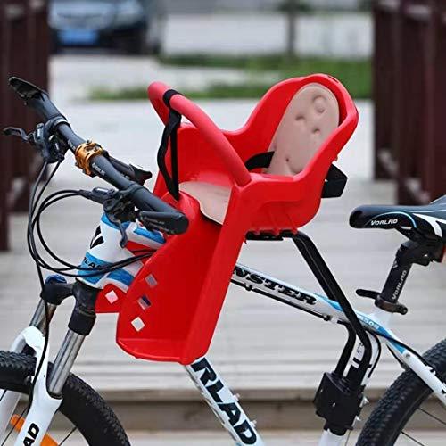 Fietsstoeltjes voor aan de voorkant, fietszadel, draagbaar, opvouwbaar en ultralicht Fietsstoeltje voor aan de kinderfiets Leuning Mountainbikes,Red