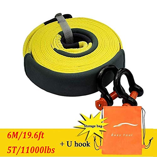 Fantastic Deal! Gjjtcd 5tons/11000lbs Car Towing Rope Tow Rope car Traction Rope Trailer with Cable ...