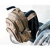 車椅子のバックパック収納バッグ-車椅子、ローリングウォーカー/輸送用椅子のアクセサリーを運ぶためのユニバーサルトラベルトート-ハンディキャップローラーバッグ用の軽量ラップトップバスケット