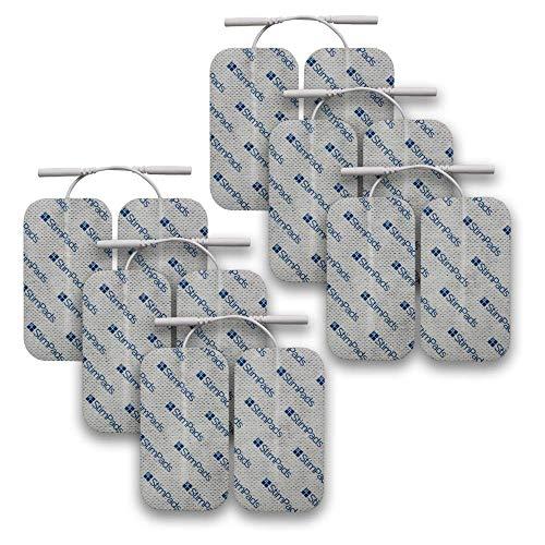 StimPads, 50X90mm, 12-er Pack leistungsstarke, langlebige TENS - EMS Elektroden mit 2mm Universal-Stecker-Anschluss
