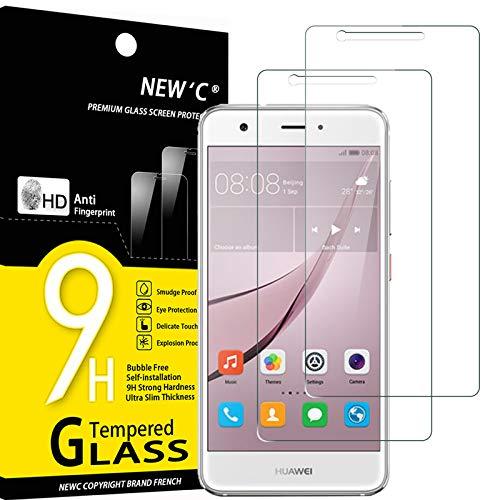 NEW'C 2 Stück, Schutzfolie Panzerglas für Huawei Nova, Frei von Kratzern, 9H Festigkeit, HD Bildschirmschutzfolie, 0.33mm Ultra-klar, Ultrawiderstandsfähig