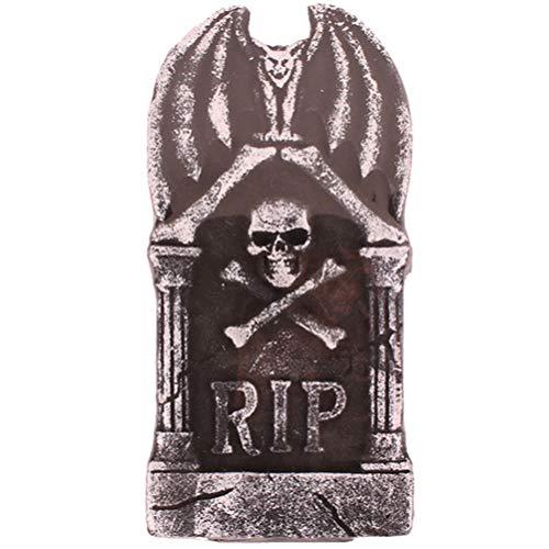 Amosfun - Figura gtica de espuma para tumbas de pueblo RIP cementerio, estatua aterradora de vampiro demonio, decoracin de casas encantadas, accesorios para fiesta de festivales, 20 x 40 cm