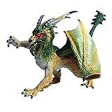 JOKFEICE Juguete de dinosaurio realista con diseño de dragón salvaje con figuras de animales de ciencia, decoración para tartas, juguetes educativos tempranos cumpleaños para niños