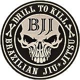 Gi Store Rocks! BJJ Patch `Drill to Kill` / 4.7 inches/Jiu Jitsu Patches/Brazilian Jiu Jitsu Gifts Ideas