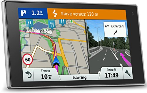 Garmin DriveLuxe 50 LMT-D EU PKW-Navi - 5\'\' Touch-Glasdisplay, lebenslange Kartenupdates, Verkehrsfunklizenz, Premium Design