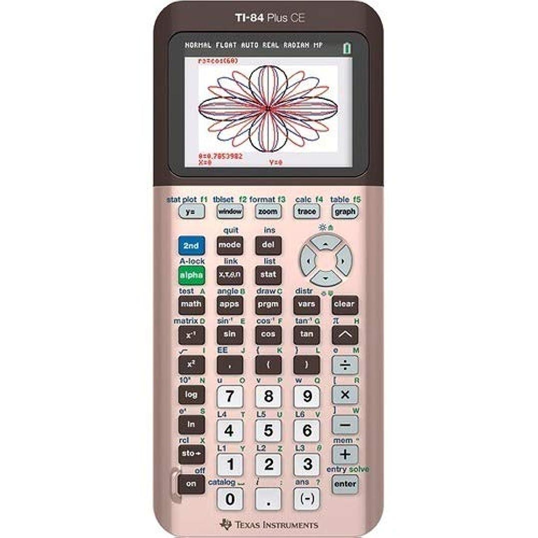世界的にかもしれない欺くTexas Instruments ti-84?Plus CE Graphing Calculator、ローズゴールド