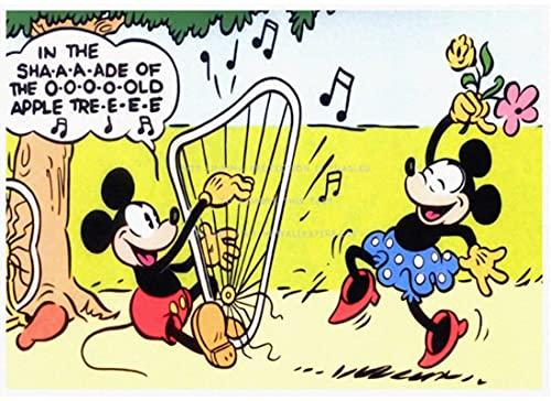 GUONA Póster De Animación Dibujos Animados Clásicos Alice Mickey Minnie Blancanieves Pato Donald Bambi Pintor De Pared Impermeable Y Duradero HD 50 * 70 Cm Lienzo Sin Marco Póster