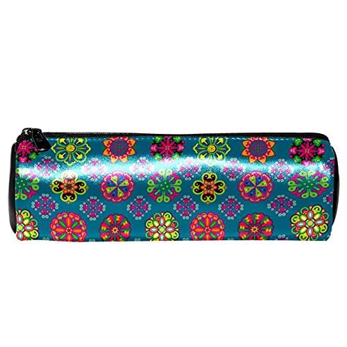 Hippie Mandala flores lápiz estuche de papelería bolsa de almacenamiento organizador bolsa de cosméticos bolsa para la escuela adolescente niñas niños hombres mujeres