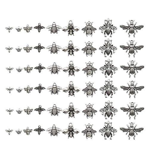 WEIGENG 10/20pcs Metal Honeybee Abejas Charms Cuentas para Pulsera Clips Hecho a Mano Colgante Neacklace Joyería Hallazgos,