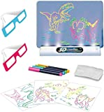 ToyVelt Light up Tracing Pad - Kids Magic Pad Light Up Drawing Board – Education Dinosaur Doodle Glow Tracing Pad with 2 3D Glasses - Gift for Kids/Toddlers Boys & Girls Ages 3 -12 Years Old