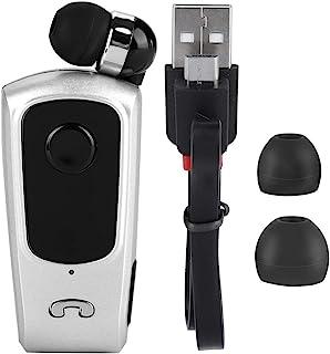 Business Collar Clip Style Bluetooth Headset, Telescopic Headphones Handsfree Earphone, for Business, Travel Mobile Phones...