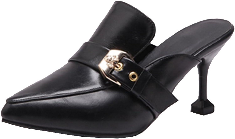 TAOFFEN Women Closed Toe Mules shoes