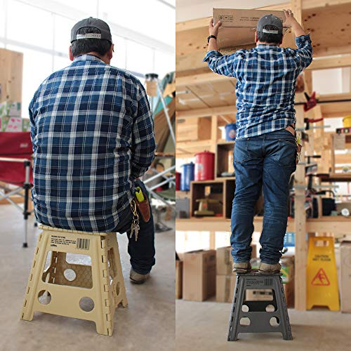 WHATNOT折りたたみチェアグレーフォールディングステップスツールアウトドア椅子踏み台脚立洗車釣りフィッシング折り畳みチェア