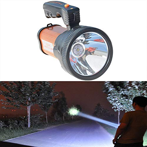Torcia ricaricabile lanterna torcia tattica torcia impermeabile Spotlight Searchlight palmare torcia LED luminoso USB power bank per tenda esterna di emergenza, oro