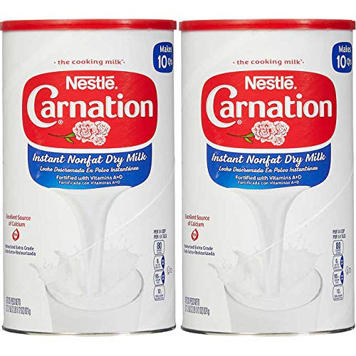 Nestle Carnation Instant Non-Fat Dry Milk 2 Pack | 32.5 Oz Each