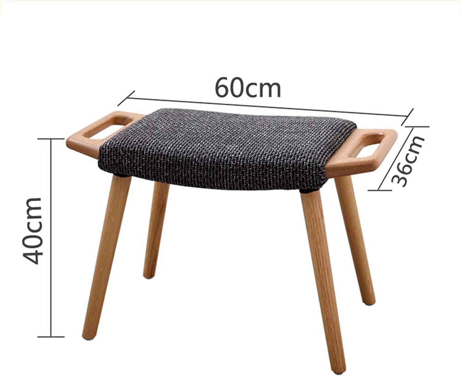 GBXX Fashion Creative Small Furniture Anti-Slip Stool Footstool Bamboo Stool Work Stool Shower Stool Solid Wood Fabric Home Simple shoes Bench Multifunction Household Creative,The Logs Are Light Gre