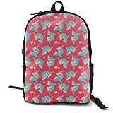 Valentine Sharks Adult Premium Travel Backpack, Water-Resistant College School Bookbag, Sport Daypack, Outdoor Rucksack, Laptop Bag for Men&Women