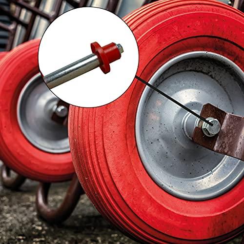 Eje resistente para ruedas de carretilla, apto para carretilla y todas las ruedas con un diámetro de eje de 20 mm y una longitud de buje de 74 mm (1 eje).