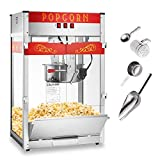 Olde Midway Commercial Popcorn Machine Maker Popper with Extra Large 16-Ounce Kettle - Red