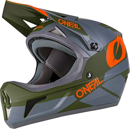 O'Neal Sonus Deft Mountain Bike Helmet Olive/Orange MD
