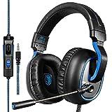 Sades Casque de Jeu R4 pour New Xbox One, contrôleur PS4, 3,5 mm câblé Over-Ear Réduction du Bruit...