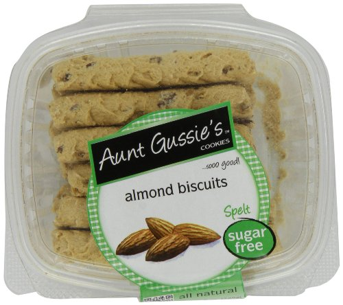 Aunt Gussie s Sugar Free Almond Biscuits, 8-Ounce Tubs (Pack of 4)